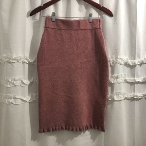 Club Monaco Italian Yarn Pink Pencil Skirt